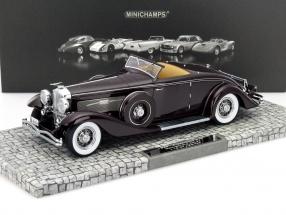 Düsenberg SJN Convertible Coupe Year 1936 dark red 1:18 Minichamps