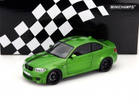 BMW 1er M Coupe Year 2011 green 1:18 Minichamps