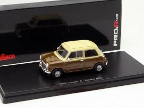 Mini Cooper S Steve McQueen braun / beige 1:43 Schuco