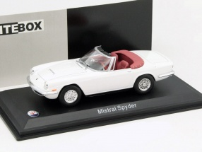 Maserati Mistral Spyder white 1:43 WhiteBox