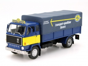 Volvo F88 transport carrier Anvers year 1972 blue / yellow 1:43 DeAgostini