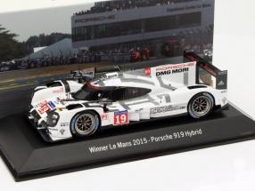 Porsche 919 Hybrid #19 Winner 24h LeMans 2015 Hülkenberg, Tandy, Bamber 1:43 Spark
