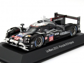 Porsche 919 Hybrid #18 24h LeMans 2015 Dumas, Lieb, Jani Dirty Version 1:43 Spark