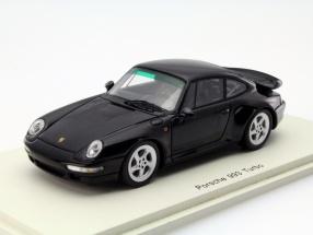 Porsche 911 (993) Turbo Baujahr 1996 schwarz 1:43 Spark