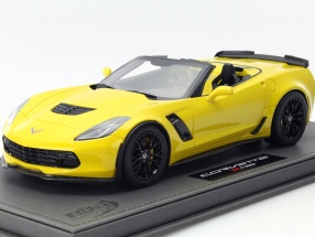 Chevrolet Corvette Z06 Convertible year 2015 yellow 1:18 BBR