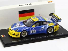 Porsche 997 GT3 Cup #69 24h Nürburgring 2015 Destree, Jodexnis, Salewsky 1:43 Spark