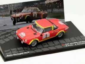 Fiat Abarth 124 Rallye #2 Rallye Portugal 1974 Pinto, Bernacchini 1:43 Altaya