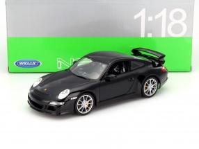Porsche 911 (997) GT3 Baujahr 2008 schwarz 1:18 Welly