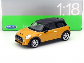 New Mini Hatch Year 2015 orange 1:18 Welly