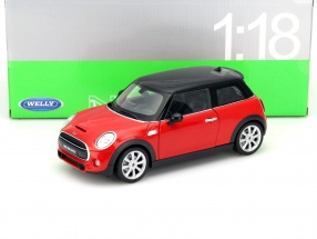 New Mini Hatch Year 2015 red 1:18 Welly