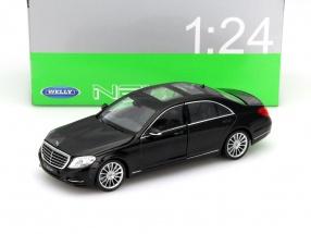 Mercedes-Benz S-Klasse (W222) Baujahr 2015 schwarz 1:24 Welly