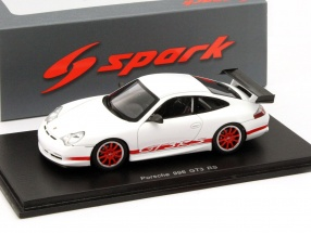 Porsche 911 (996) GT3 RS Year 2003 white / red 1:43 Spark