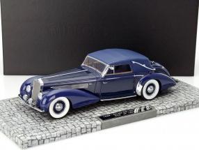 Delage D8-120 Cabriolet Year 1939 dark blue / blue 1:18 Minichamps