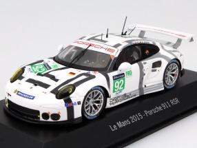 Porsche 911 RSR #92 24h LeMans 2015 Pilet, Makowiecki, Henzler 1:43 Spark