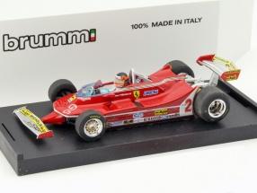 Gilles Villeneuve Ferrari 312T5 #2 Brasilien GP Formel 1 mit Fahrerfigur 1980 1:43 Brumm