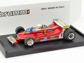 Jody Scheckter Ferrari 312T5 #1 Monaco GP formula 1 1980 With Fahrerfigur 1:43 Brumm