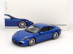 Porsche 911 (991) Carrera S blue 1:18 Welly