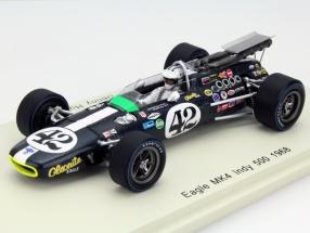 Denny Hulme Eagle MK4 #42 Indy 500 1968 1:43 Spark