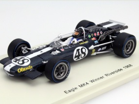 Dan Gurney Eagle MK4 #48 Winner Riverside 1968 1:43 Spark