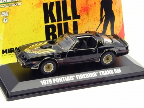 Pontiac Firebird Trans Am Movie Kill Bill Volume II 2004 black 1:43 Greenlight