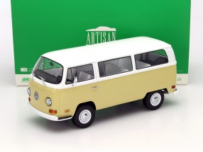 Volkswagen VW T2b Bus Year 1971 beige / white 1:18 Greenlight