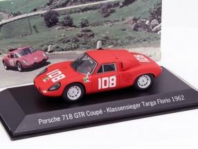 Porsche 718 GTR Coupe #108 Klassensieger Targa Florio 1962 1:43 Spark