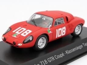 Porsche 718 GTR Coupe #108 Classwinner Targa Florio 1962 1:43 Spark