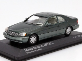 Mercedes-Benz 600 SEC Year 1992 green metallic 1:43 Minichamps