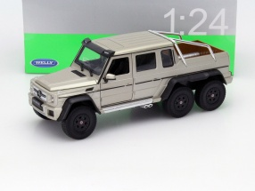 Mercedes-Benz G 63 AMG 6x6 Year 2015 gold 1:24 Welly