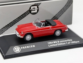MG B Convertible Year 1964 red 1:43 Triple9