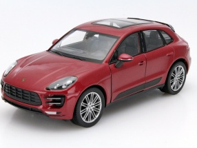 Porsche Macan Turbo Year 2014 red 1:24 Welly