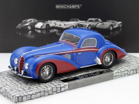 Delahaye Type 145 V12 Coupe Year 1937 blue / red 1:18 Minichamps