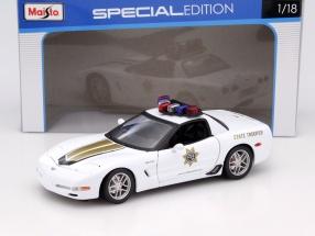 Chevrolet Corvette Z06 Highway Division Police weiß 1:18 Maisto