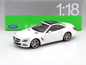 Mercedes-Benz SL 500 Year 2012 white 1:18 Welly