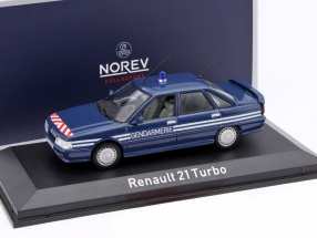 Renault 21 Turbo Gendarmerie Year 1989 blue 1:43 Norev