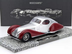 Talbot Lago T 150-C-SS Coupe Year 1937 red / silver 1:18 Minichamps