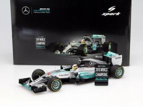 L. Hamilton Mercedes F1 W06 Hybrid #44 Weltmeister USA GP F1 2015 1:18 Spark