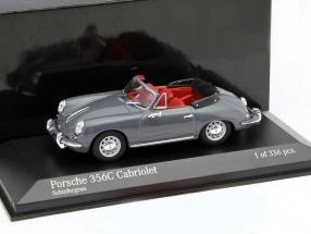 Porsche 356C Cabriolet Baujahr 1965 grau 1:43 Minichamps