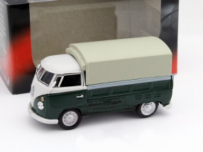 Volkswagen VW T1 Pick Up with Plans green / beige 1:43 Cararama