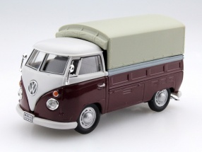 Volkswagen VW T1 Pick Up with plans red / beige 1:43 Cararama
