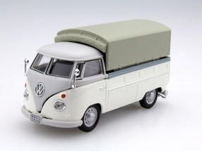 Volkswagen VW T1 Pick Up With Plans white 1:43 Cararama