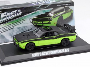 Letty's Dodge Challenger R/T Film Fast & Furious 7 2015 grün / schwarz 1:43 Greenlight