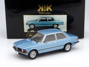 BMW 318i E21 year 1975 light blue metallic 1:18 KK-Scale