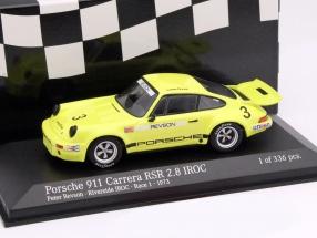 Porsche 911 Carrera RSR 2.8 #3 Riverside IROC Race 1 1973 Revson 1:43 Minichamps
