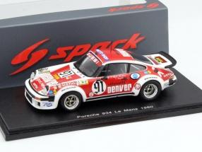 Porsche 934 #91 24h LeMans 1980 Bussi / Salam / Grandet 1:43 Spark