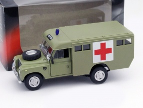 Land Rover Series III 109 Ambulance grün 1:43 Cararama