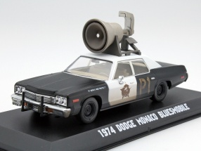 Dodge Monaco Bluesmobile Blues Brothers 1980 black / white 1:43 Greenlight