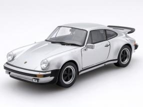 Porsche 911 Turbo 3.0 Year 1974 silver 1:24 Welly