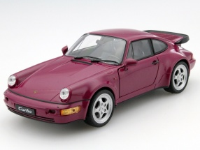 Porsche 911 (964) Turbo Year 1990 dark pink 1:24 Welly