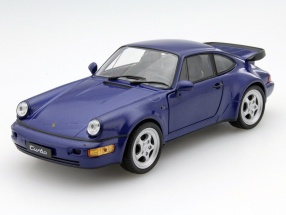 Porsche 911 (964) Turbo Year 1990 blue 1:24 Welly